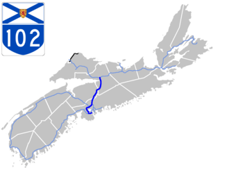 Nova Scotia Highway 102 - Image: Nova Scotia 102 Map