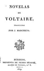 Voltaire: Novelas de Voltaire. Tomo Primero