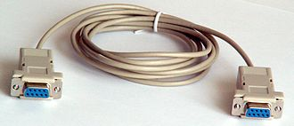 Crossover cable - Image: Null modem cable 1