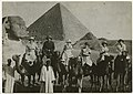 Nurses and physicians from the American Zionist Medical Unit on camels in Egypt en route to Palestine in July 1918 (3515506964).jpg