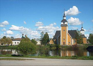 Nykarleby Town in Ostrobothnia, Finland