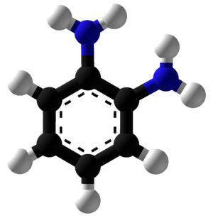 O-Phenylenediamine - Image: O Phenylenediamine Ball and Stick