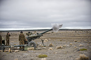 Royal Regiment of New Zealand Artillery - Gunners fire a L119 Light Gun in 2010
