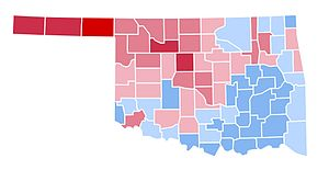 United States presidential election in Oklahoma, 1996 - Image: OK1996