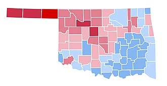 1996 United States presidential election in Oklahoma - Image: OK1996