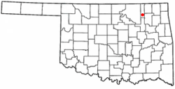 Location of Ramona, Oklahoma