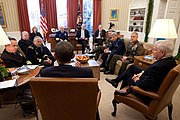 Obama meets with Joint Chiefs about DADT
