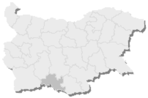 22nd MMC – Smolyan -  Map of Bulgaria, 22nd MMC – Smolyan is highlighted