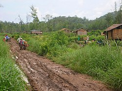 Road in the rainy season, Ocha Krong, Pailin.