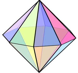Octagonal bipyramid - Image: Octagonal bipyramid