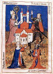 Founding of the Canons' Monastery by Adelheid in 1037