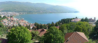 Lake Ohrid - Lake Ohrid as seen from Ohrid