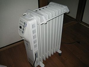 Mineral oil - An electrical heat radiator that uses mineral oil as a heat transfer fluid