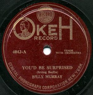 Okeh Records - A lateral-cut recording by Billy Murray from 1919