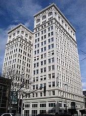 Budynek Starego Banku Narodowego w centralnej dzielnicy biznesowej Spokane