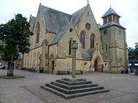 Old Cumnock Old Church and mercat cross.JPG