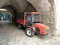 Old Jerusalem Muristan road mini tractor GOLDONI TRANSCAR 70RS.jpg