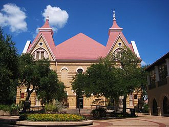 San Marcos, Texas - Old Main academic building at Texas State University