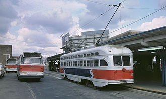 Olney, Philadelphia - Olney Terminal in 1984 with All-Electric PCC 2117