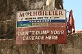 On the streets of Talisay, Cebu, August 9 2017-sign not dump garbage.jpg