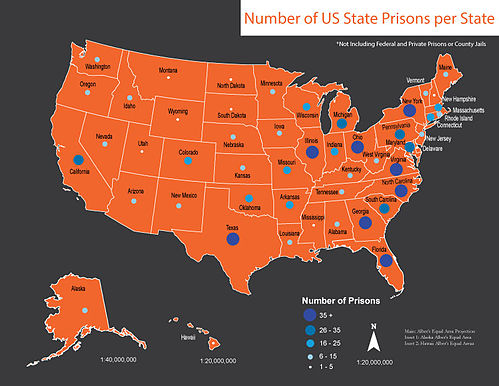 Lists Of United States State Prisons Wikipedia - Us map wikipedia