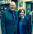Oregon Teacher of the Year Brett Bigham and Congresswoman Suzanne Bonamici.jpg
