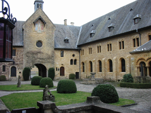 Orval Abbey - Entry to Orval Abbey via the guest house.