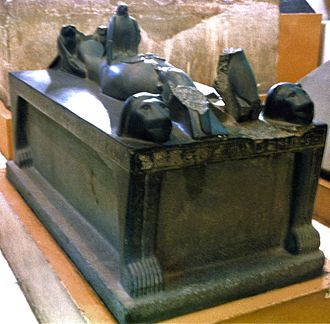 Djedkheperew - The Bed of Osiris, from the tomb of Djer, and inscribed with the name of Djedkheperew.