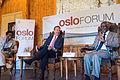 Oslo Forum 2014 - Dr Funmi Olonisakin, H.E. Mr Børge Brende and H.E. Mr Kofi Annan.jpg