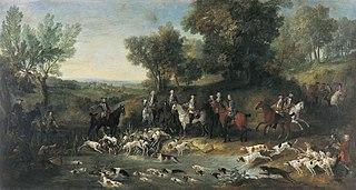 Louis XV chassant le cerf dans la forêt de Saint-Germain