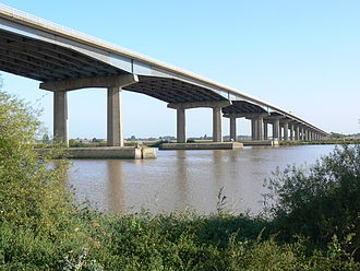 M62 Ouse Bridge, built in 1976 Ouse Motorway Bridge.jpg
