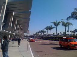 Outside Terminal 2 at San Diego International Airport