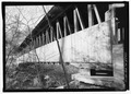 PERSPECTIVE, NORTHWEST BY 295 DEGREES. - Kenyon Bridge, Spanning Mill Brook, Town House Road, Cornish City, Sullivan County, NH HAER NH-40-11.tif