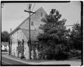 PERSPECTIVE VIEW FROM NORTHEAST - Moravian Grist Mill Complex, High Street and Hackettstown Road, Hope, Warren County, NJ HABS NJ,21-HOP,2-3.tif