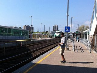 Pickering GO Station railway station in Ontario, Canada