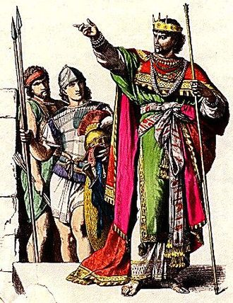 Kingdom of Judah - Depiction of Jewish king and soldiers in ancient Judah