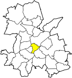 Location of Śródmieście within Rybnik