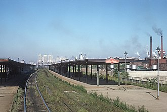 Walter Rand Transportation Center - Broadway station of the Pennsylvania-Reading Seashore Lines in September 1965, months before service ended entirely. After Camden Terminal closed in 1953, Broadway was the terminus of the PRSL, with passengers forced to transfer to the Bridge Line to reach Philadelphia