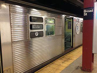 Unused New York City Subway service labels - Image: P train