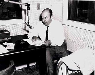 1966 in poetry - Chilean poet Pablo Neruda recording poems at the U.S. Library of Congress this year