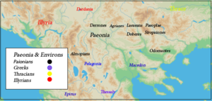 Ariston of Paionia - Paeonia, tribes, and environs