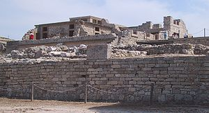 Ruins of the palace at Knossos