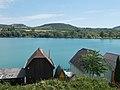 Palatinus Lake mid and Pilis hills, 2017 Esztergom-Kertváros.jpg