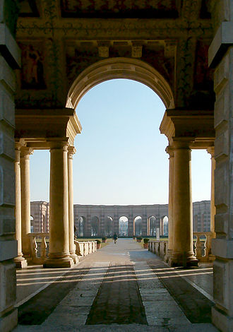 """Palazzo del Te - Variations on the """"Serlian window"""" theme are developed throughout the building."""