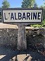 Panneau Michelin Albarine Avenue Libération Ambérieu Bugey 1.jpg