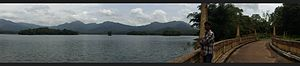 Mangalam Dam (dam) - Image: Panoramic view of Mangalam Dam