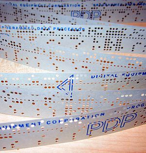PDP-11 architecture - Punched tape used for PDP-11