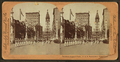 Parade in Avenue of Fame, G.A.R. (Grand Army of the Republic) encampment, Philadelphia, from Robert N. Dennis collection of stereoscopic views.png