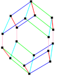 Parallelohedron edges elongated rhombic dodecahedron.png