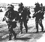 Paratroopers from the 82d Airborne move inland from a landing zone in Grenada.jpg